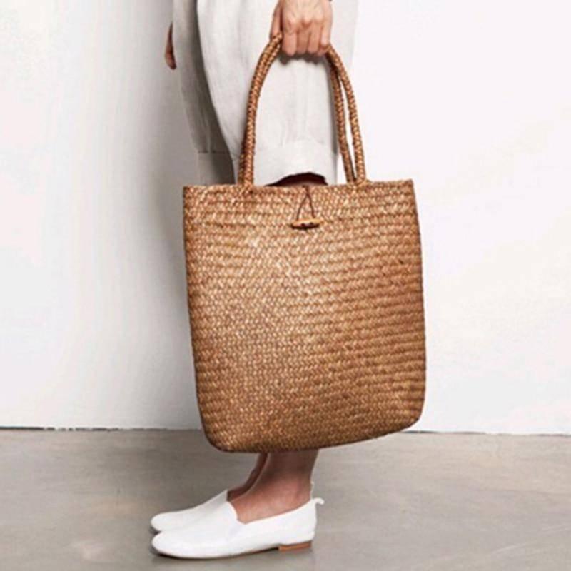 Bohemian Rattan Large Straw Tote Bag