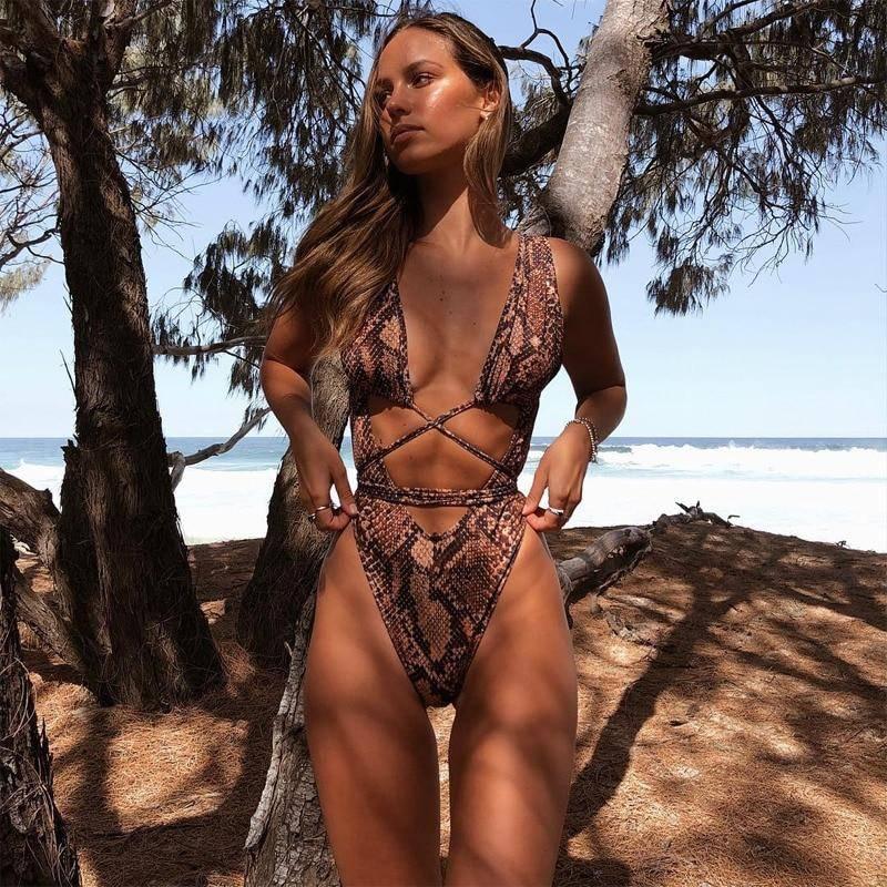 55747551c3c9f One Piece Serpentine Leopard Monokini Swimsuit | Women's Fashion ...